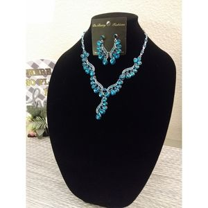 Beautiful blue necklace and earings